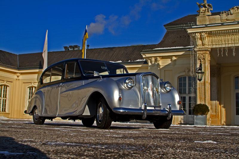Oldtimer Hochzeitsauto in Laxenburg