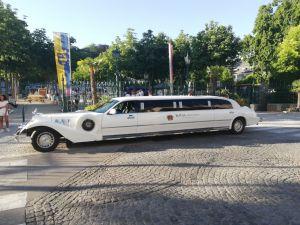 Limousine Baden in weiß