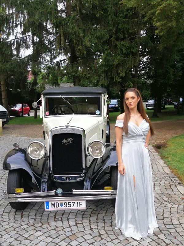 Oldtimer Austin Six als Hochzeitsauto