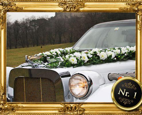Blumenschmuck für Limousine mieten